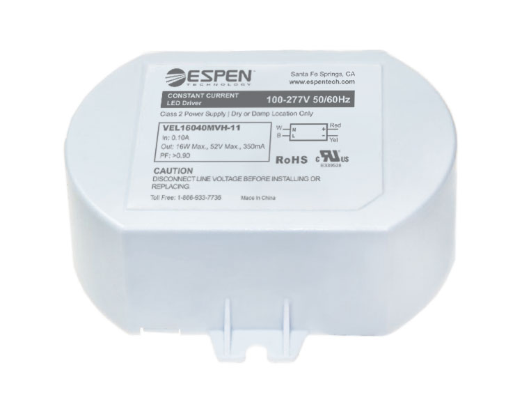 CA Max 12W Constant Current 120V input High Power Factor Espen LED Driver VEL12020120H-3 200 mA