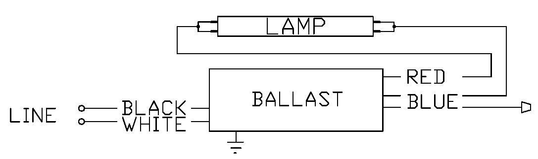 8-ft T8 Electronic Ballast  1 Xf96   2 Xf96 120  277v  Espen